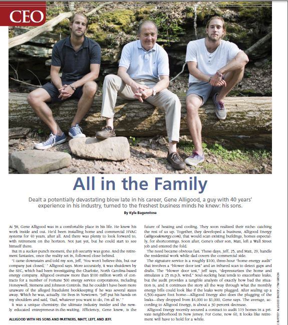 Bucks County-based Alligood Energy was featured in the August/September issue of BUCKS Life Magazine.